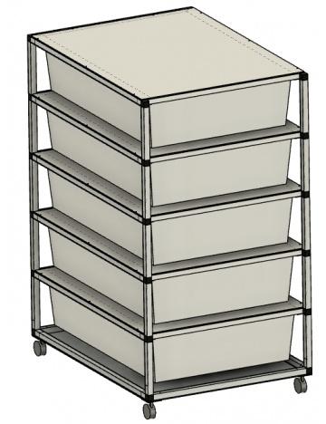 Rack Aluhobby K1 - sześć pięter bez skrzynek