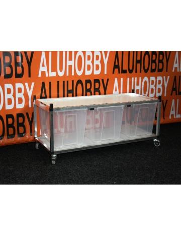 Rack Aluhobby K4 - sito sufitowe (dole i podłoga, w tym pudełka)