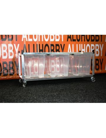Rack Aluhobby K5 - podłoga łącznie z pudełkami