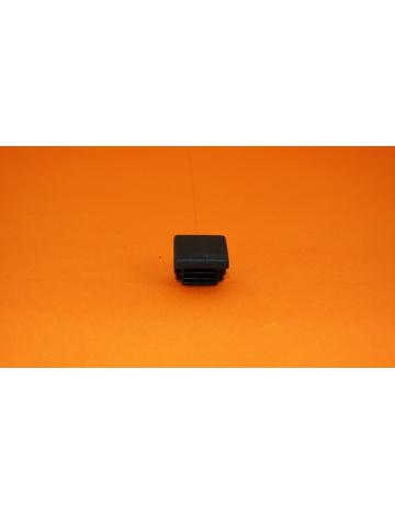 Zaślepka nakładana  czarna, 20x20x1,5mm