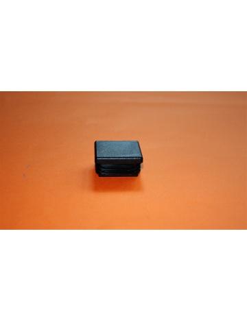 Zaślepka nakładana  czarna, 25x25x2mm