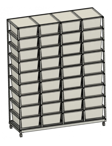 Rack Aluhobby K2 - trzydzieści sześć pudełek
