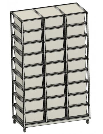 Rack Aluhobby K2 - dwadzieścia siedem pudeł