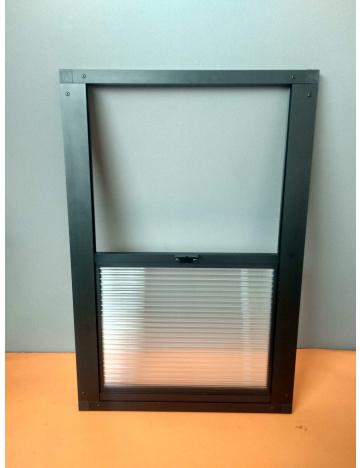 Okno wylotowe 60x40cm - 10mm, czarne