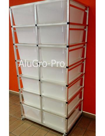 Rack Aluhobby T4 - siedem pięter bez pudeł